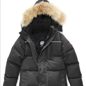 Canada Goose youth Eakin parka graphite gray